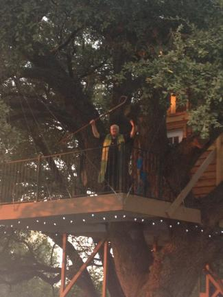 Bishop Mike Lowry blesses the Treehouse